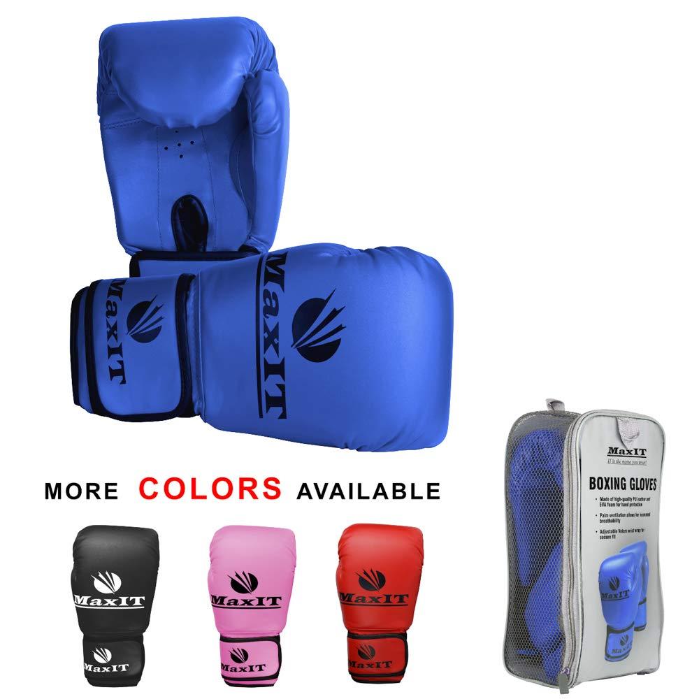 Maxit ボクシング、キックボクシング、スパーリングキッズトレーニンググローブ B07H5176N6 ブルー 6 OZ