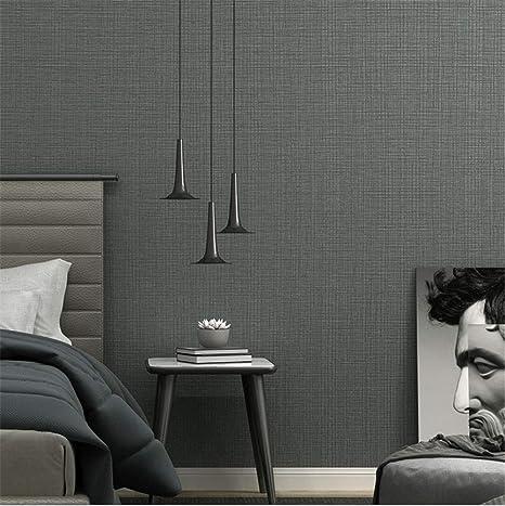 Modern 3d Simple Gray Plain Wallpaper Pvc Solid Color