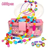 Pop Beads, Jewelry Making Kit for Girls, Art and Craft Toys Gift, DIY Bracelets Necklace Hairband and Rings Creativity…