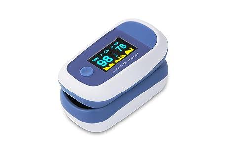 CYBERNOVA Dedo oxímetro de pulso con el color OLED Display-% SpO2 (saturación de