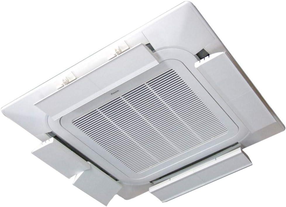 Desviador del Aire Acondicionado para el Aire Acondicionado Central de Techo, Evitar Que el Aire sople Recto, ángulo Ajustable, Apto para Cualquier Modelo, Material plástico liviano (una Sola Pieza): Amazon.es: Hogar