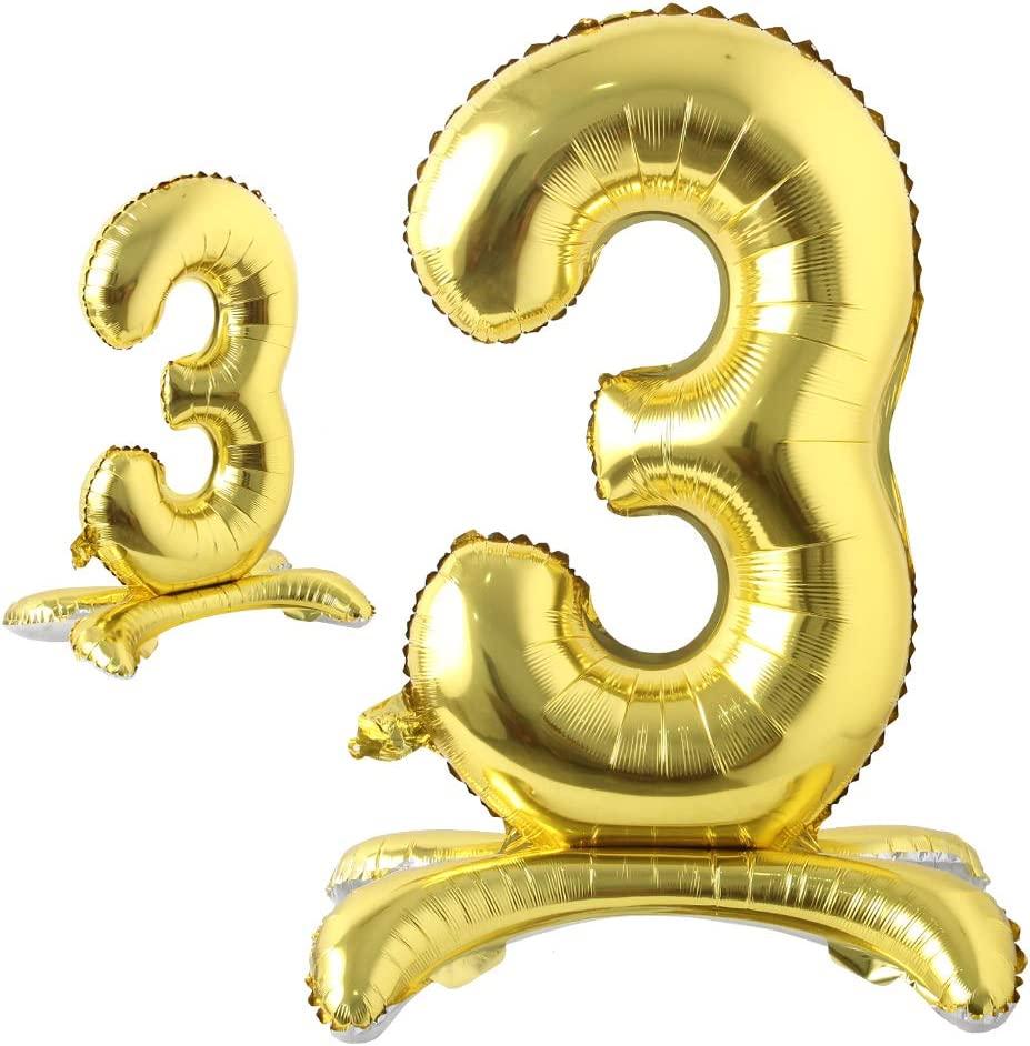 16 inch Gold Foil Balloons Alphabet Letter and Number Birthday Party Wedding OZ