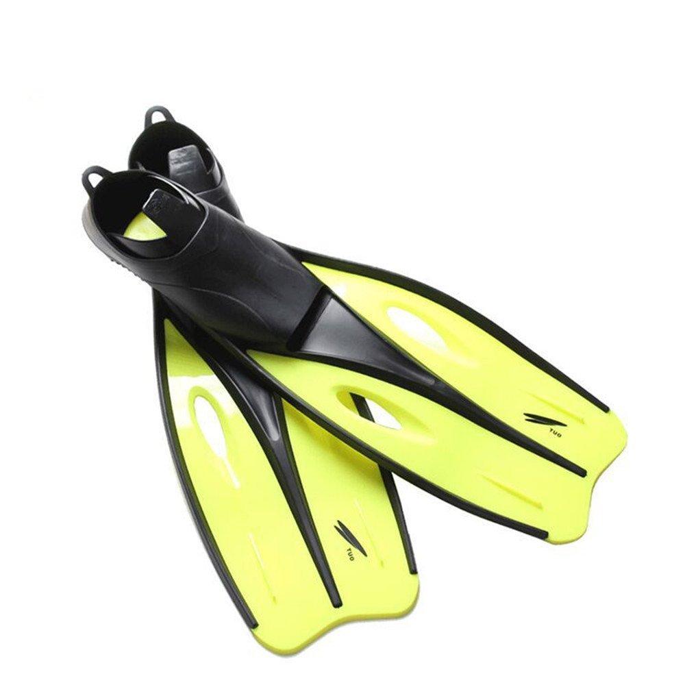 Jaune M 37-39 ChenBing-swi Unisexe Palmes Plein Pied Snorkeling Palmes de plongée Ultra-légères idéales pour la Natation, la plongée en apnée, l'activité Aquatique pour l'apnée de plongée Snor