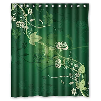 TonyLegner Polyester Flower Valentine Day Shower Curtains Width X Height 72 Inches