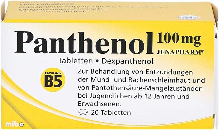 Panthenol 100mg Jenapharm 20 St Amazon De Drogerie Körperpflege