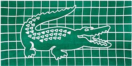 Lacoste de billar toalla de playa, verde (t14494)