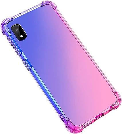 Adamarkeer Coque pour Huawei Y5 2019, Honor 8S Coque Clear Étui Silicone TPU Souple Transparente Housses Dégradé Arc-en-Ciel Ultra Légère Mince ...
