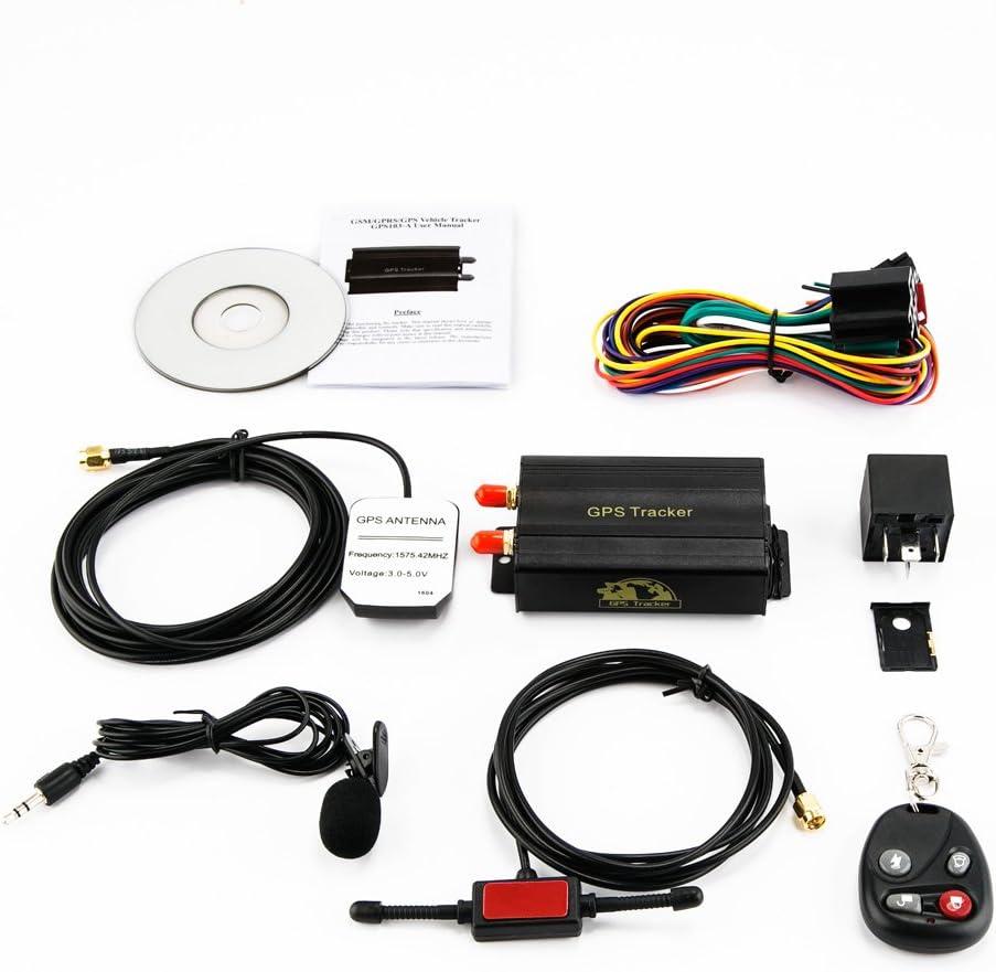 KKmoon Seguimiento de Vehiculos,GPS SMS GPRS Tracker Coche,Localizador en Tiempo,Localizador Gps Coche Tracker,Rastreador Localizador Gps   Trayectoria Histórica   SOS para Ayuda   Valla Electrónica