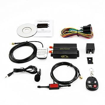 KKmoon Seguimiento de Vehiculos,GPS SMS GPRS Tracker Coche,Localizador en Tiempo,Localizador