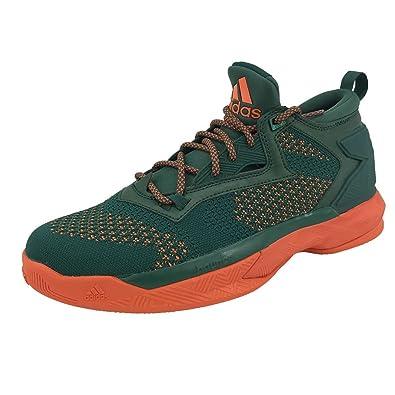pretty nice 488b5 673a5 adidas Men s D Lillard 2 Pk NCAA Basketball Shoes, Green   Orange ...