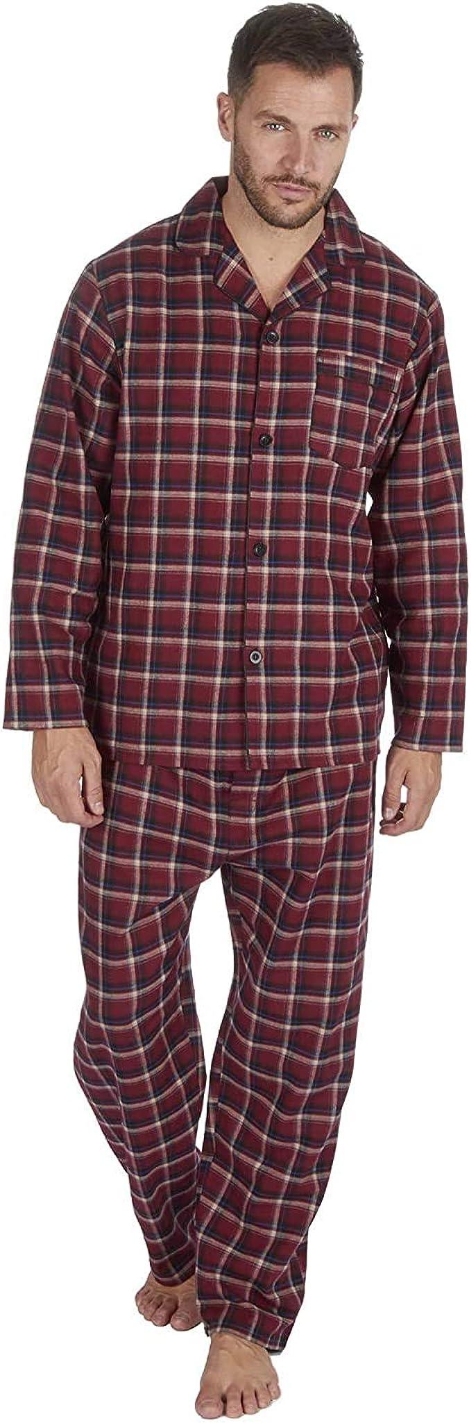 Insignia Hombre Hilos Teñidos 100% Algodón Puro Franela Pijamas
