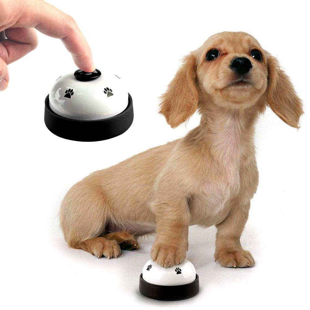 Uspacific 2pcs Pet Training Bells Dog Training Bell with Whistle and Training Clicker for Potty Training Communication Device( No Need Battery ) Stopping Barking