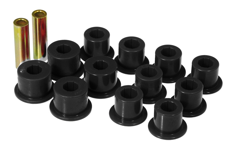 Prothane 14-1003-BL Black Rear Spring Eye and Shackle Bushing Kit