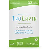 Tru Earth Eco-Strips Laundry Detergent (Fragrance-Free, 32 Loads) - Eco-friendly Ultra Concentrated Hypoallergenic…