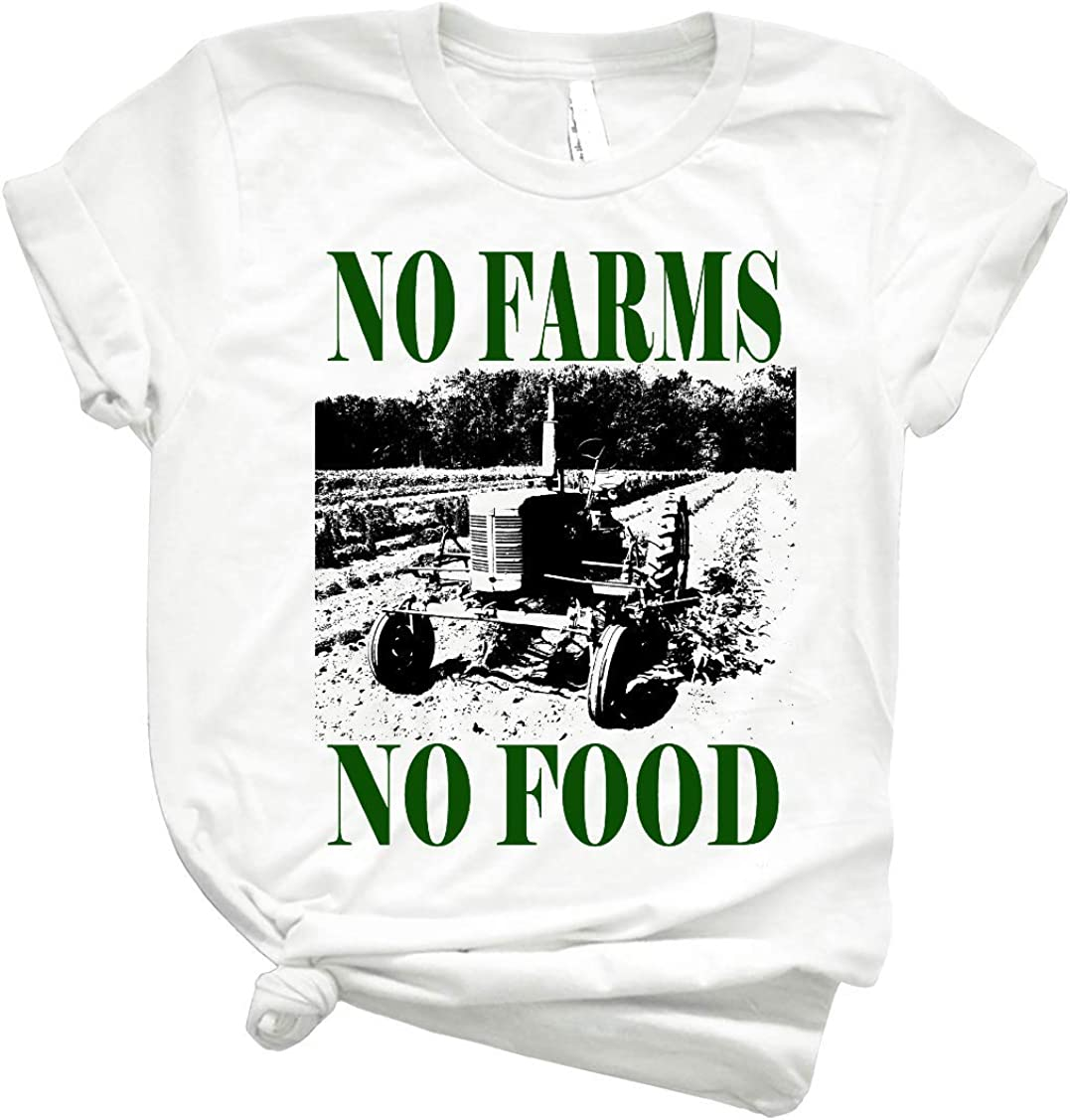 No Farms No Food 75 GraphicRetroShirtsforWomen - Best Retro Graphic T Shirts - CuteTShirtsGraphic