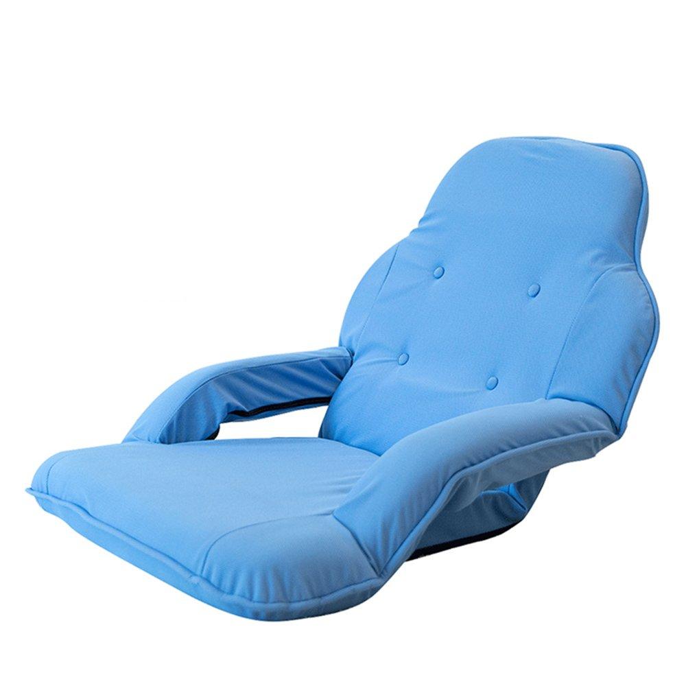 Colore : A 8 Colori opzionali ZYX Sedie KFXL yizi Creativo Confortevole Divano Pieghevole Sedia//Camera da Letto bay Cuscino//con braccioli Pure Color Living Room Floor Chair