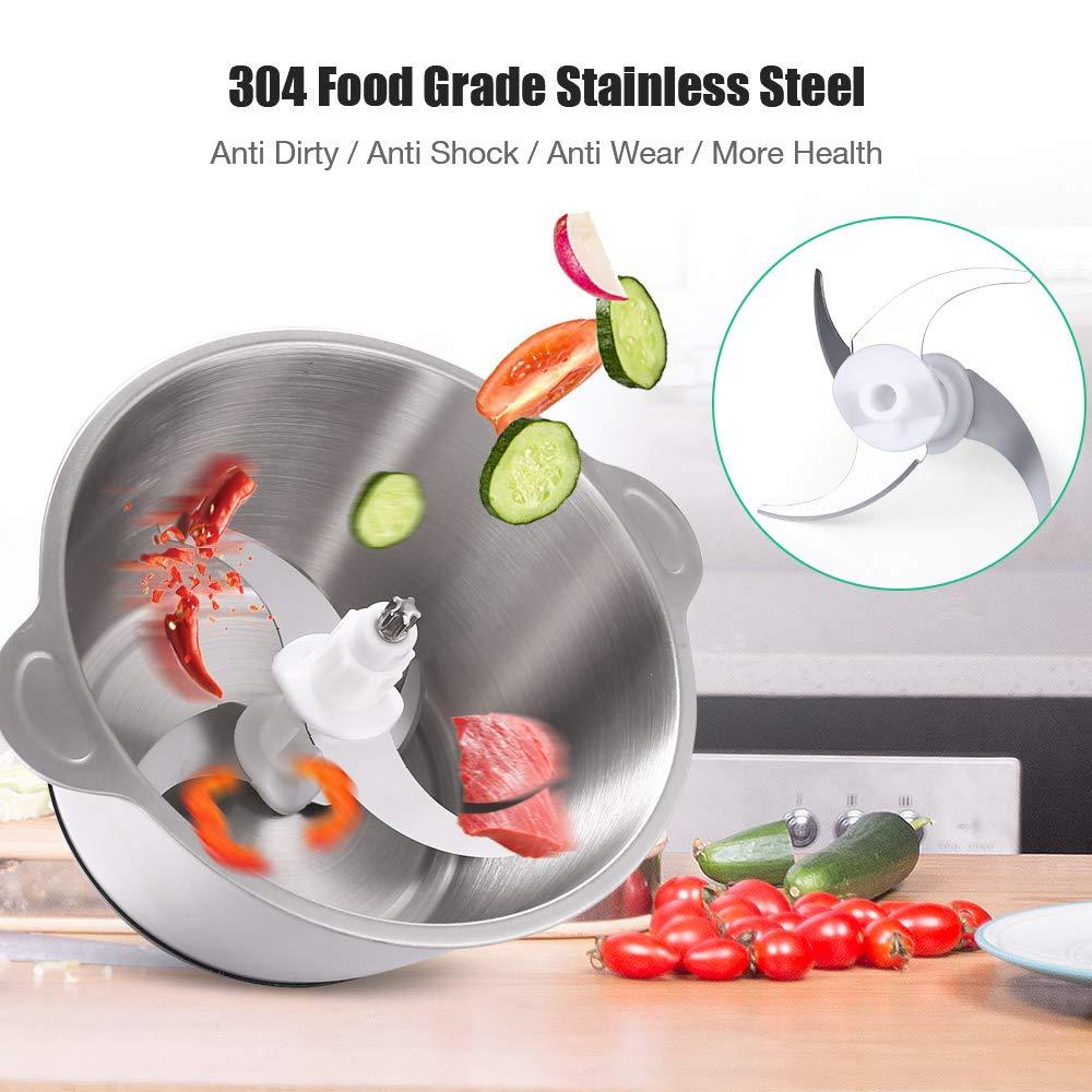 picadora El/éctrico verduras Carne especias etc. homeasy 350/W Batidora Multifuncional con bol de acero inoxidable 2L para frutas