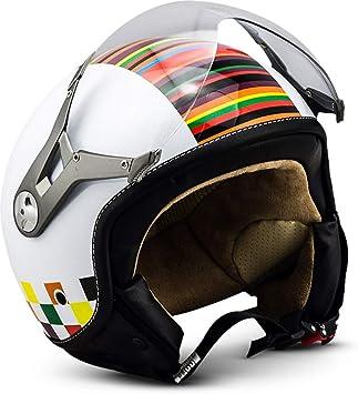Soxon Sp 325 Couleur Jet Helm Motorrad Helm Roller Helm Scooter Helm Moped Mofa Helm Chopper Retro Vespa Vintage Pilot Biker Helmet Ece 22 05 Visier Schnellverschluss Tasche Xl 61 62cm Auto