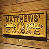 AdvPro Wood Custom wpa0060 Name Personalized Game Room Poker Casino Bar Wood Engraved Wooden Sign - Large 26.75'' x 10.75''