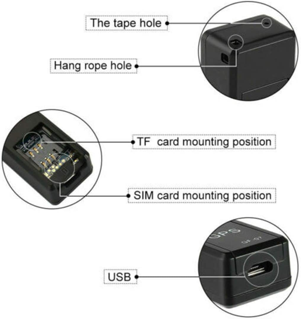 Mini Tracker,GPS Locator Concealed Magnetic Tracking Device with Sound Monitoring for Vehicle Kids Dogs