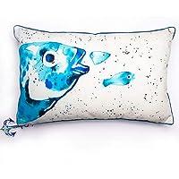 Bigg Design Cotton Multi Color Anemoss Bream Rectangular Pillow