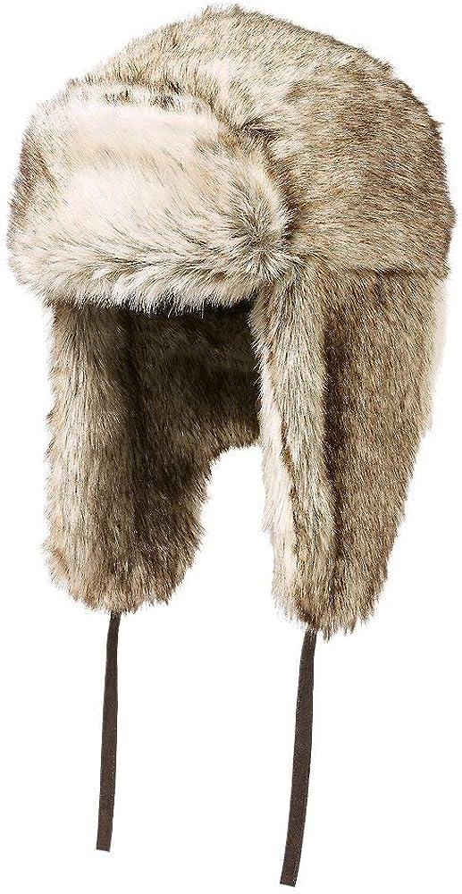 Eddie Bauer Mens Truckee Faux Fur Trapper Hat