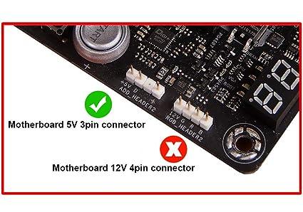 EZDIY-FAB adressier RGB Memoria DDR Disipador Fin DIY PC Overclocking Mod DDR3 DDR4(compatible con ASUS Aura Sync,Gigabyte RGB Fusion y MSI Mystic light ...