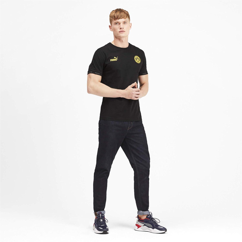 PUMA Mens Bvb Ftblculture Tee T-Shirt