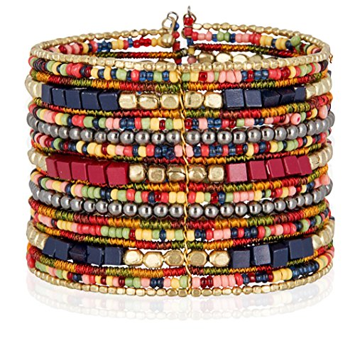 (SPUNKYsoul Cuff Bracelets for Women Collection (Navy/Red/Box))