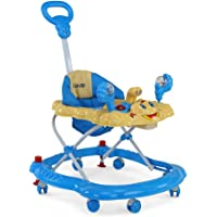 LuvLap Sunshine Baby Walker with Adjustable Height & Stopper - Blue