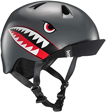 Bern Nino Casco de Bicicleta para niño, Niño, Color Satin Grey Flying Tiger, tamaño XS-S: Amazon.es: Deportes y aire libre