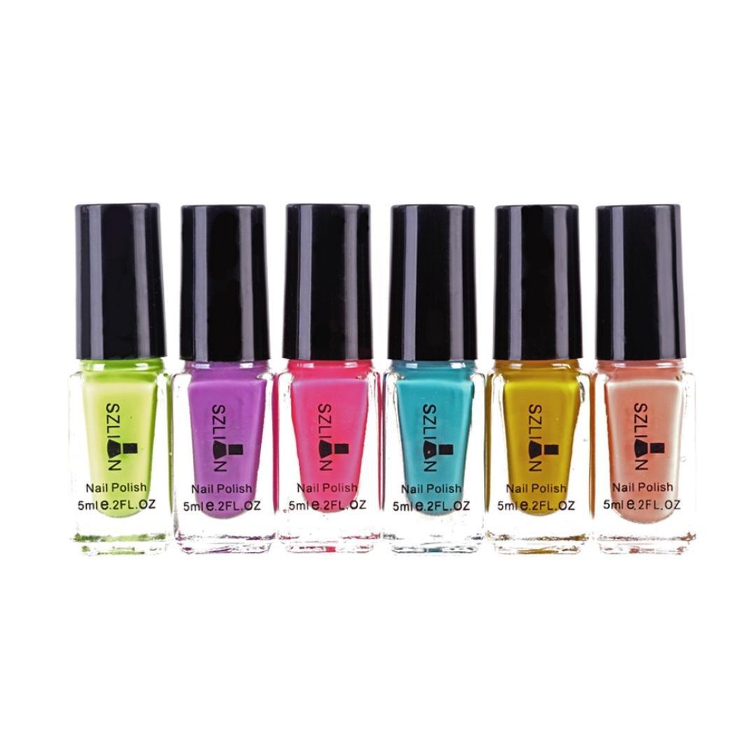 Amazon.com : 6Pcs Nail Chrome UV Gel Polish, Iuhan Womens Nail Polish Magic Mirror Effect Chrome Nail Art Polish Varnish (C) : Beauty