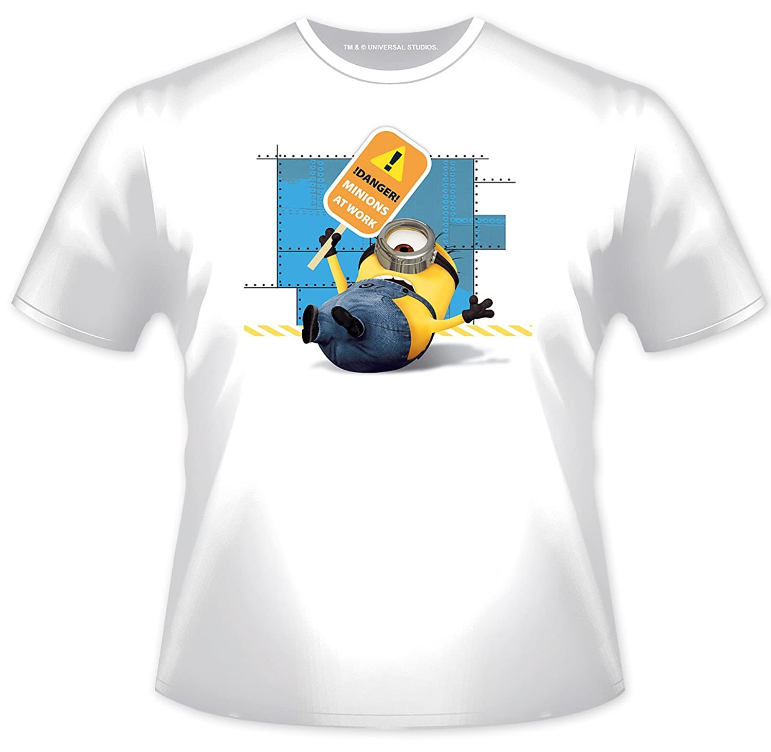 "Despicable Me Minions T-Shirt ""Danger! Minions at Work"""