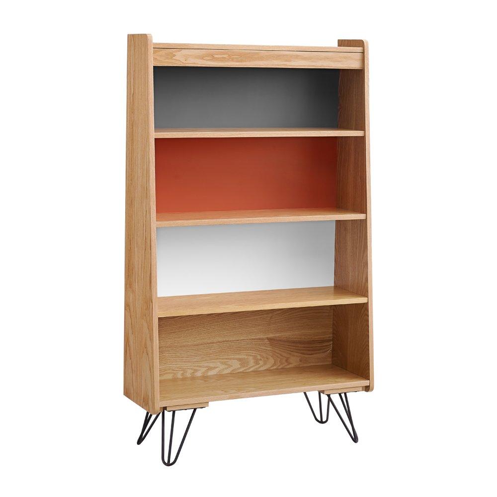 Linon AMZN0295 Drake Bookcase, Brown