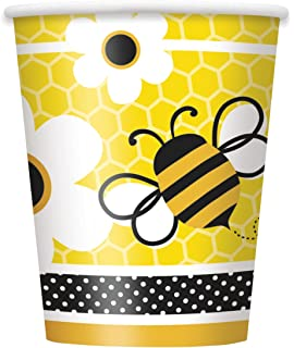 9oz Busy Bumble Bee Paper Cups Pack Of 8