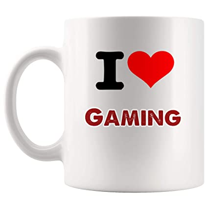 Amazon com: I Love Gaming Mug Coffee Cup Tea Mugs Gift | Eat