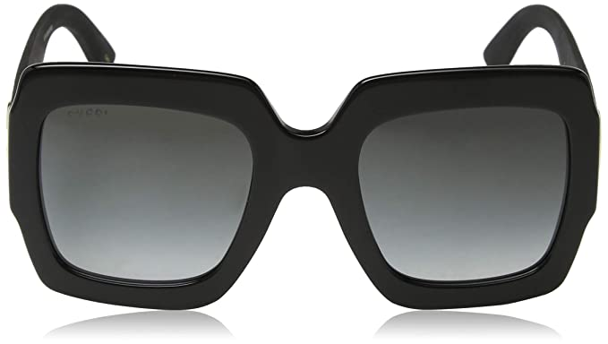 bc3018b564c90 Amazon.com  Gucci GG0102S 001 Black Grey GG0102S Square Sunglasses Lens  Category 3 Size 5  Clothing