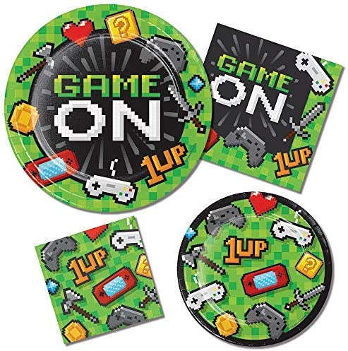 Creative Converting 336035 Video Game Party Napkins Paper Multicolor