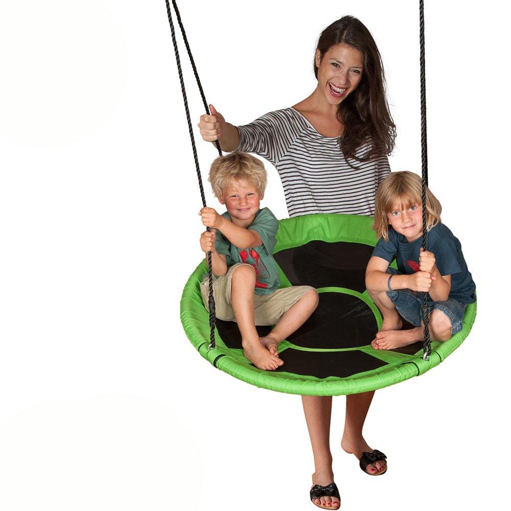 Nestschaukel aus strapazierfähigem Polyester, 100cm Durchmesser: 100cm Kinderschaukel Tellerschaukel Rundschaukel Schaukel bis 100kg