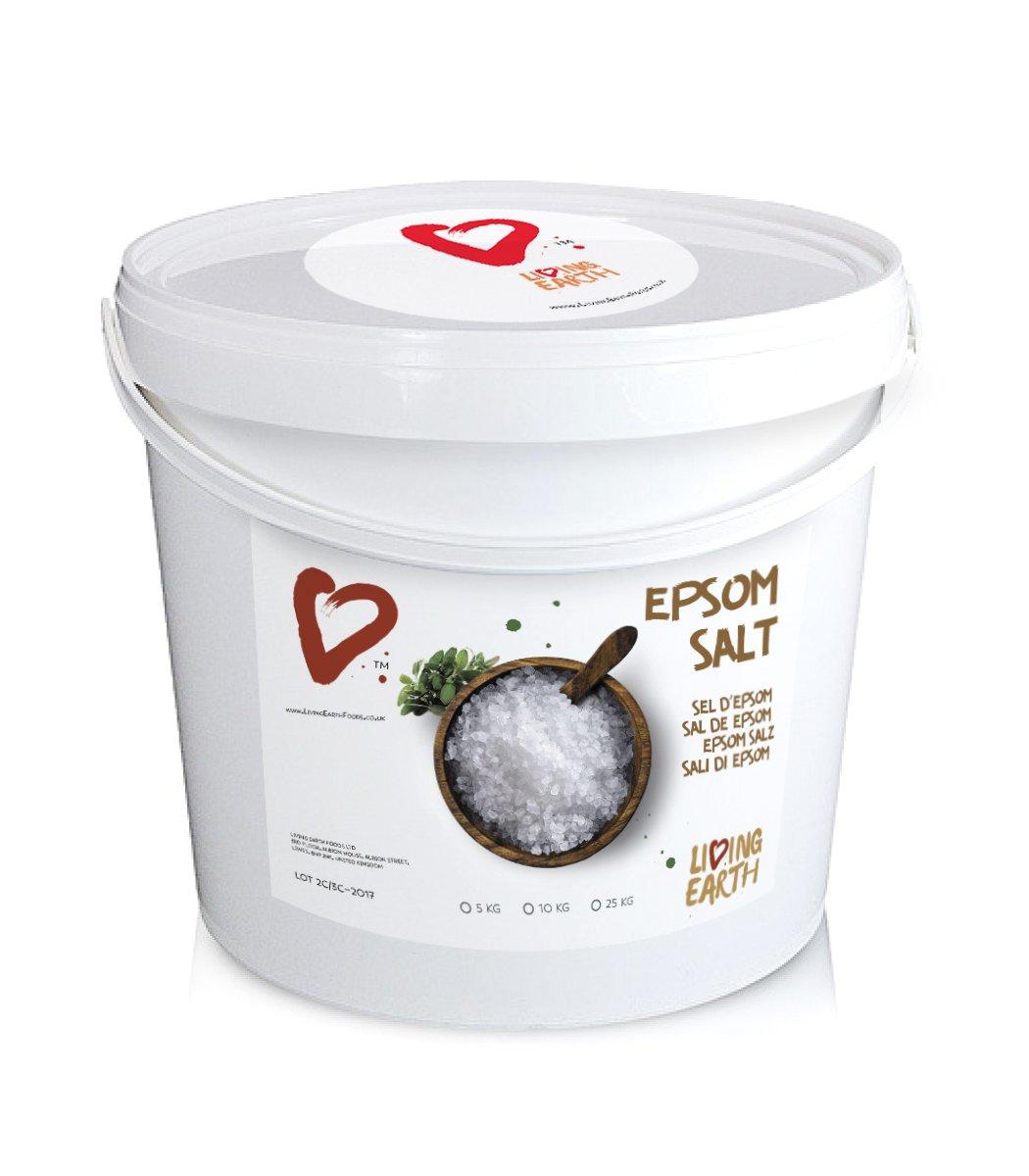 5kg - Living Earth - Epsom Salts (Magnesium Sulphate), 5kg Bucket/Tub