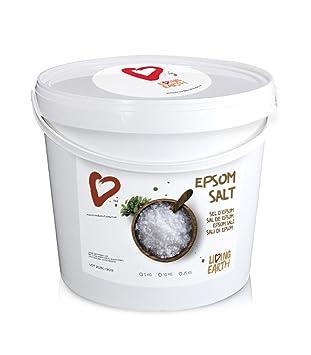 10kg - Living Earth - Sulfato de Magnesio (Sales de Epsom). Cubo de