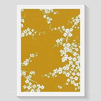 Lemon Girl Citron Jaune Moutarde Fille Prune Fleur Décoration Murale