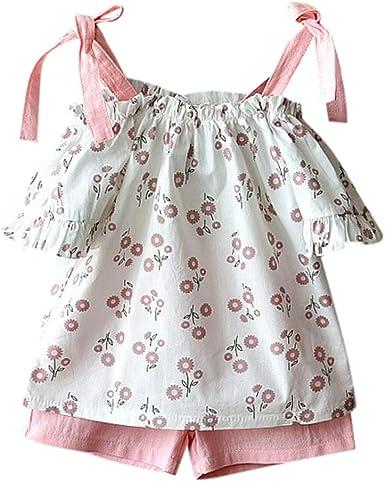 Amazon.com: Juego de ropa de 2 piezas, camiseta con ...