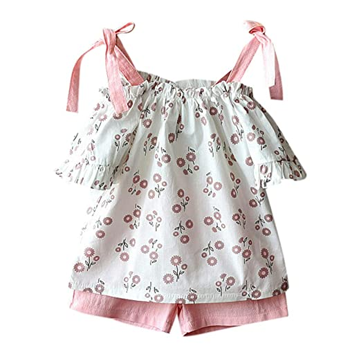 0f296845a Amazon.com  2-Peices Baby Girls Outfits