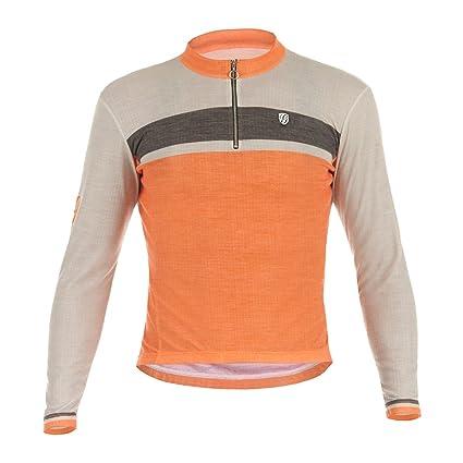 Giordana Sport Merino Wool Blend Long-Sleeve Jersey - Men s Beige   Orange  Grey Accents 04cf62247