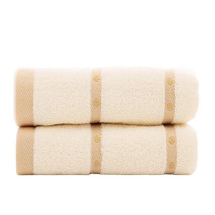 zhenxinmei 2 Pack toallas de algodón de amante de juego de toallas para máxima suavidad y ...