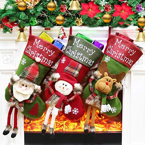 Dreampark Christmas Stockings, Big Xmas Stockings Decoration - 18