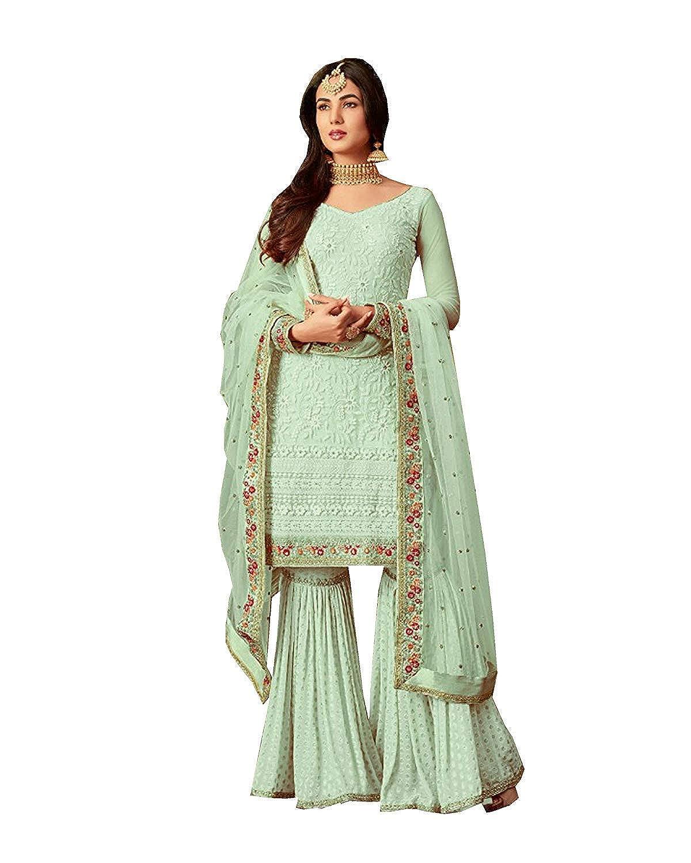 Choice 3 stylishfashion Net Latest Embroidered and with Beautiful Anarkali Designer Salwar Kameez