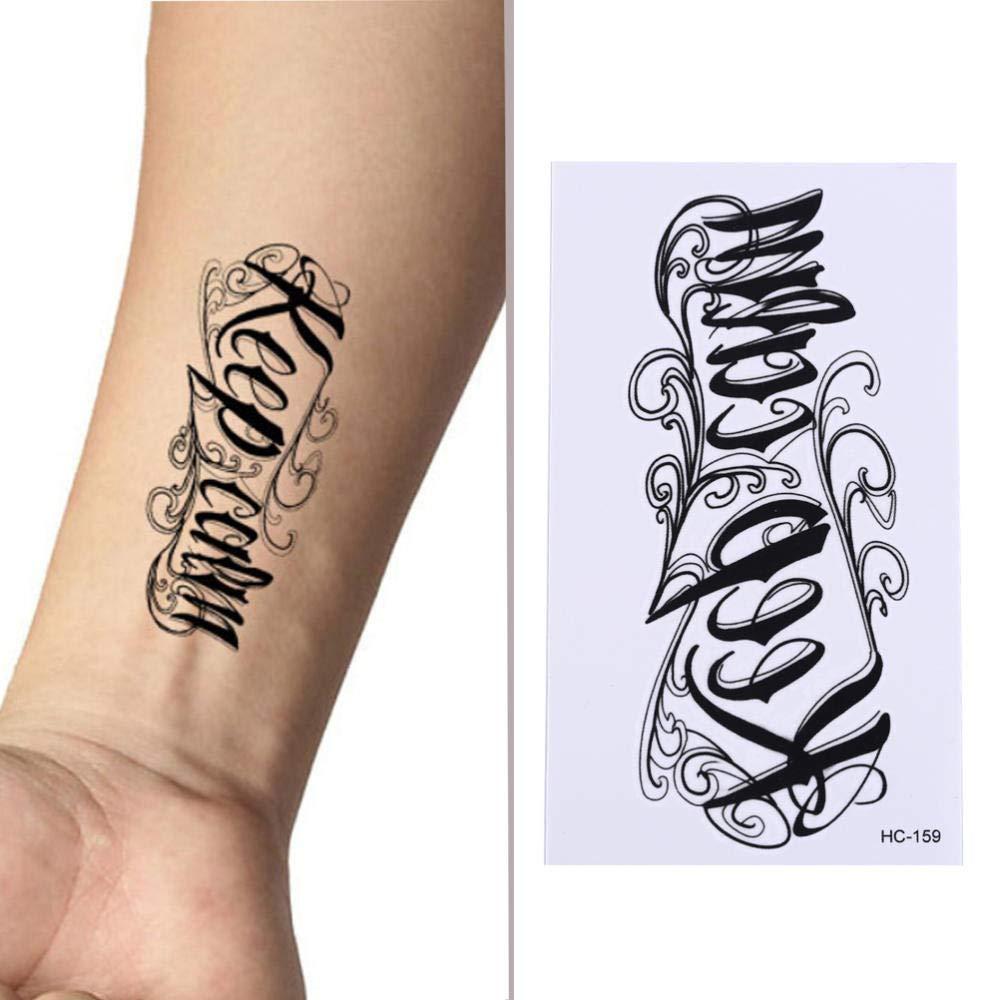 Etiqueta engomada del tatuaje temporal a prueba de agua mantener ...