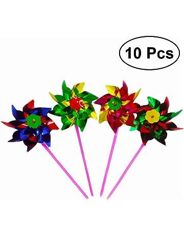 TOYMYTOY Molinillos de viento Juguetes Decoración de fiesta cumpleaños boda Navidad 10pcs